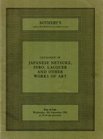 SOTHEBY'S, Japanese netsuke, inro, lacquer and woa[09/81]