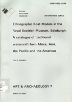 Ethnographic boat models in the Royal Scottish Museum